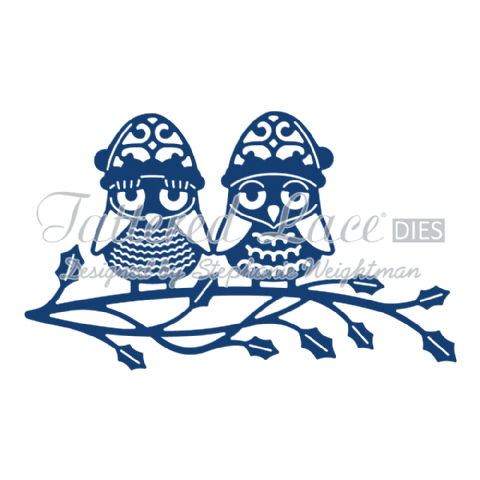 Tattered Lace Die Christmas Owls - D871